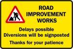Road improvement works graphic
