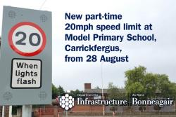 Image of 20mph sign outside school