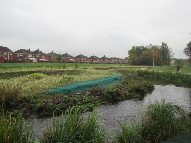 Flood alleviation works carried out at the Connswater Community Greenway