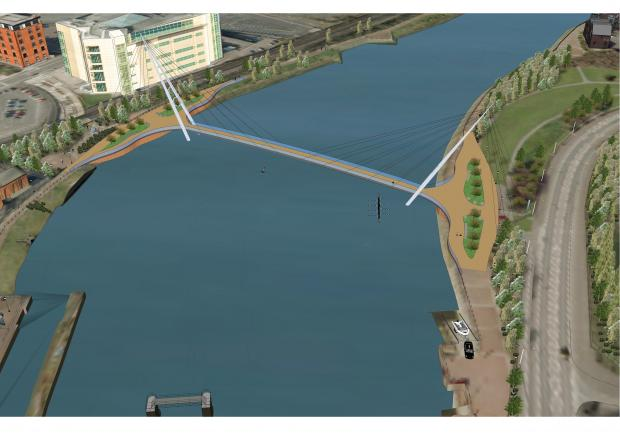 Lagan Footbridge sketchup