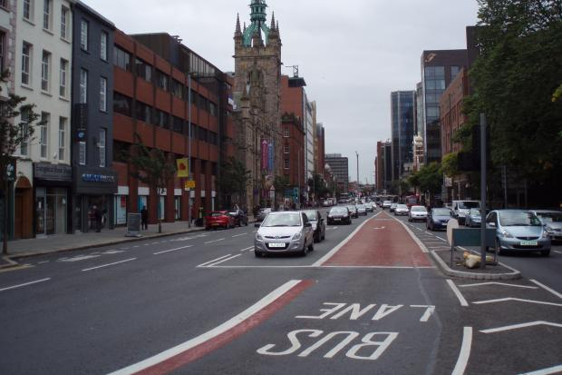 New bus lane in Fisherwick Place