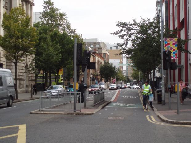 New pedestrian crossing facility at Donegal Square South