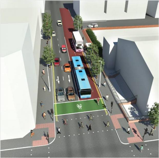 Belfast Rapid Transit in the city centre