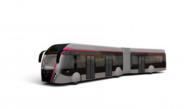 Artists impression of Van Hool BRT vehicle