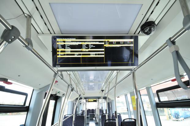 Typical information screen in a Van Hool vehicle