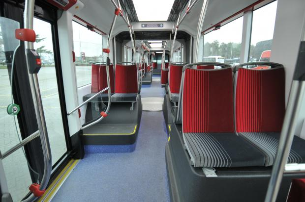 Typical interior of a Van Hool vehicle