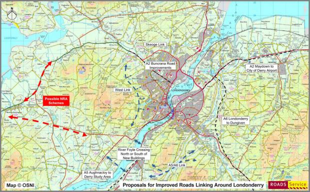 Improved Roads linking around Londonderry | Department for ...