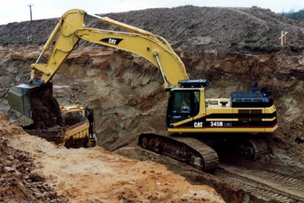 Excavation in raised beach at Killane