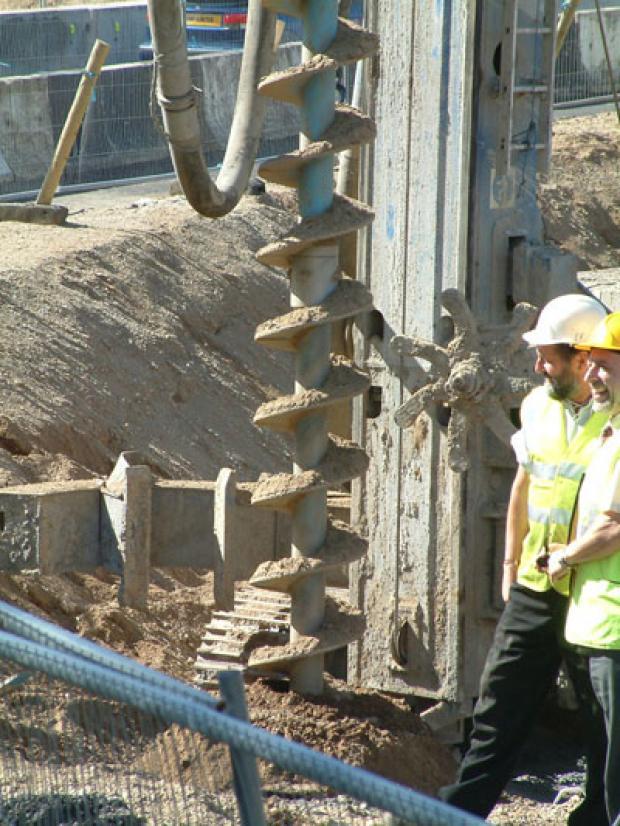 Installing piles