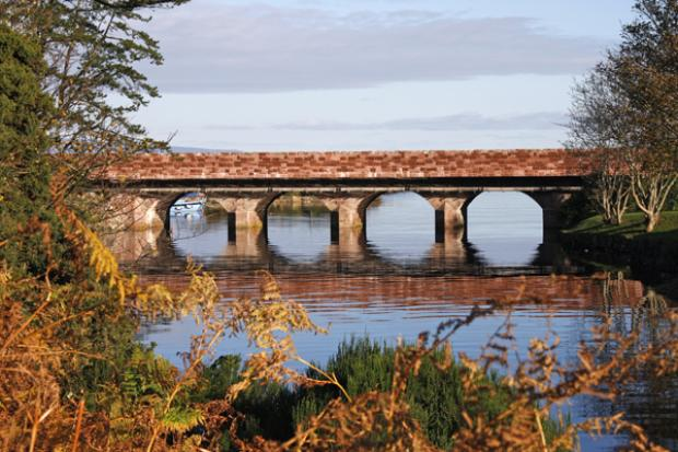 A bridge after strengthening work has taken place