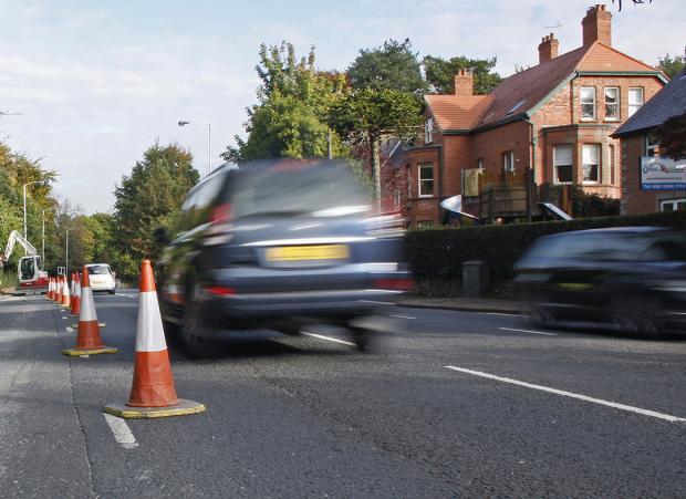 Traffic movement during resurfacing work