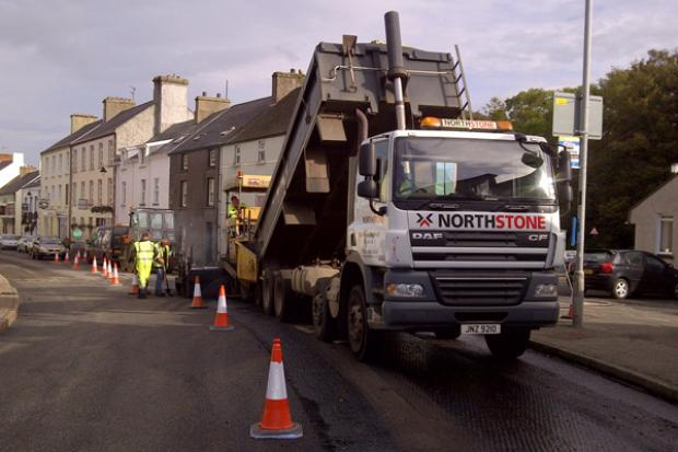 Image of resurfacing work being carried out