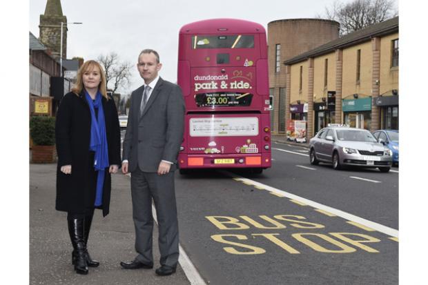 Transport Minister Michelle McIlveen visits Belfast Rapid Transit works