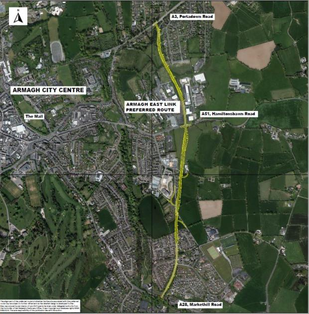 A28 Armagh East - overview | Department for Infrastructure on map of northumberland county pa townships, map of northern ireland, map of county armagh ireland,