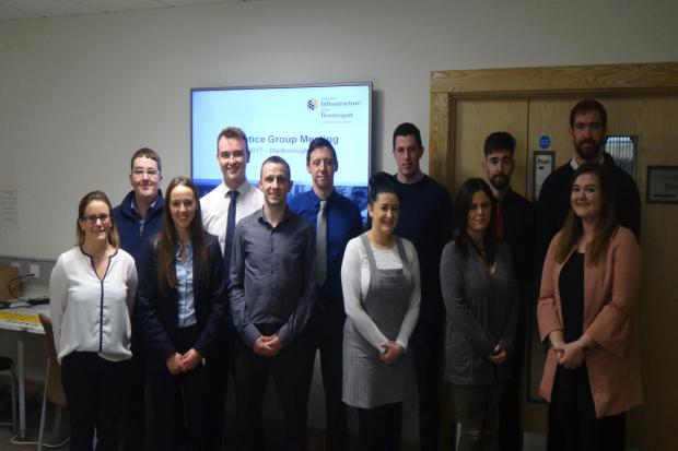 Photograph of DfI apprentices from 2017