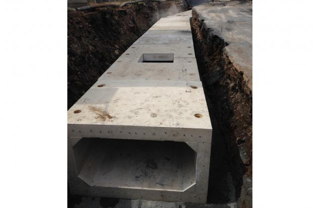 Concrete Row. Whiteabbey - Box Culvert