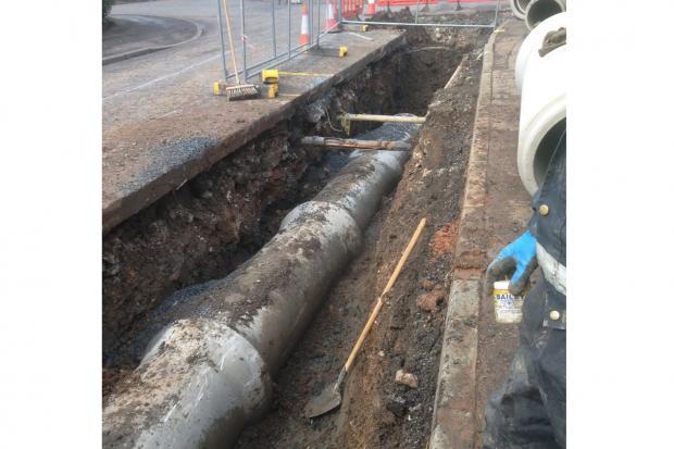 Slievetoy Park, Belfast - New piped culvert