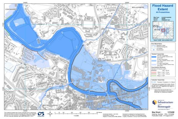 Image of Flood Map for Omagh