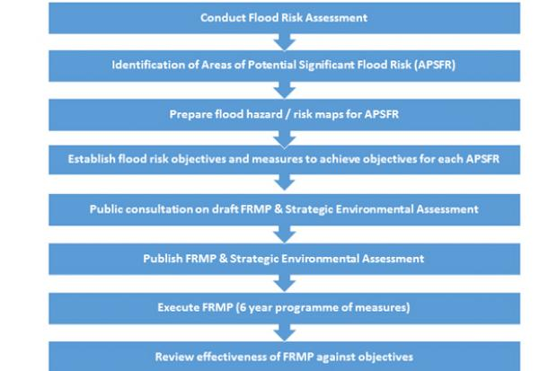 Flood Risk Management Plan flowchart