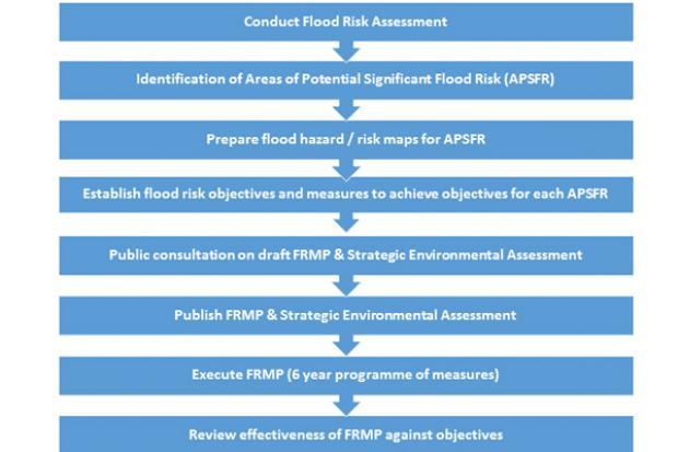 Flood Risk Management Plan flowchart