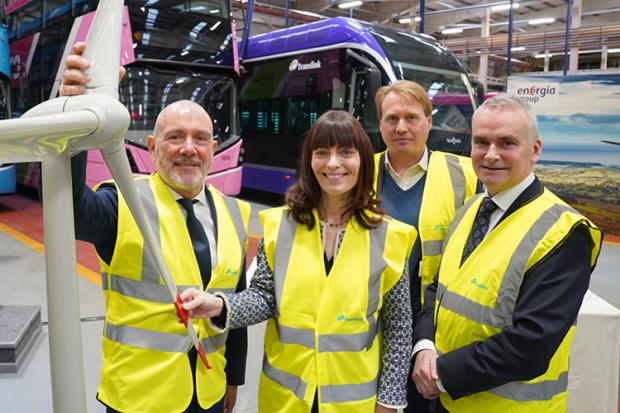 Minister Mallon at Hydrogen Bus Launch