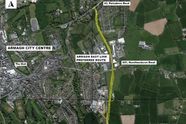 Armagh East Link - Preferred Route