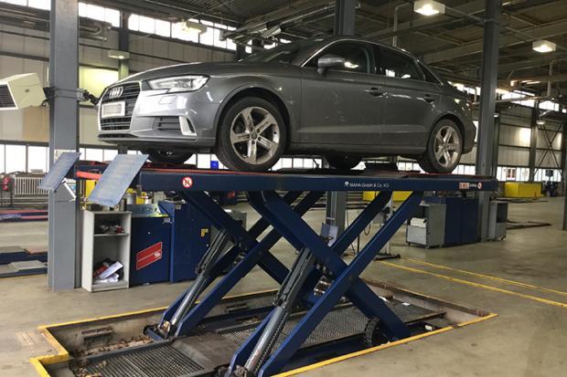 car-on-lift-at-dva