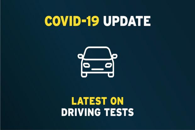 Image for update on driving tests