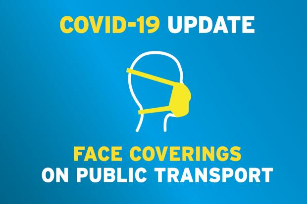 Face coverings on public transport image