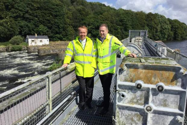 David Porter Director of Rivers Agency with Minister Chris Hazzard