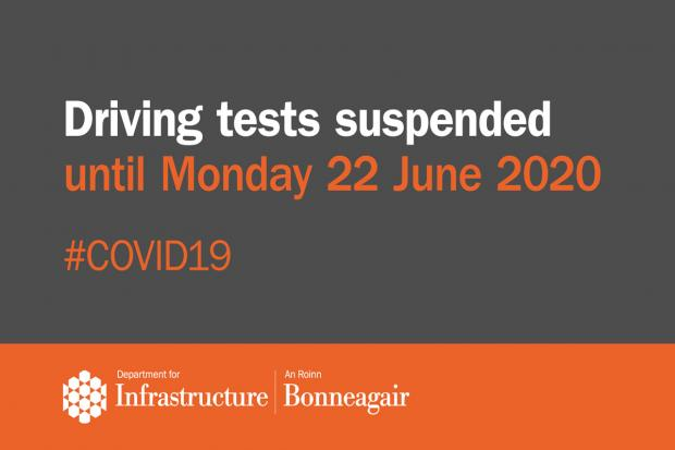 Driving tests suspended - Covid