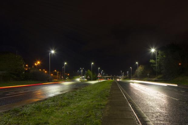 LED Street Lighting scheme on Bangor Road