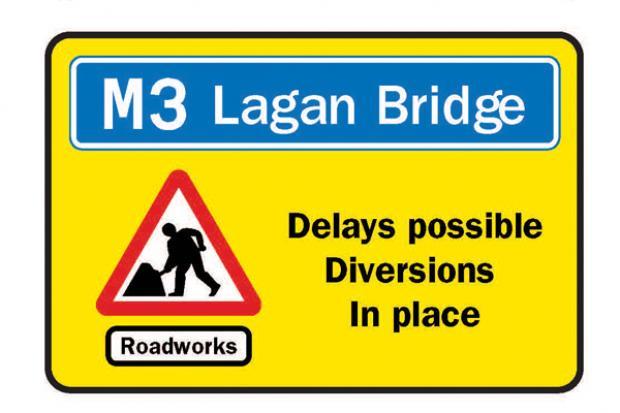 M3 Lagan Bridge delays possible