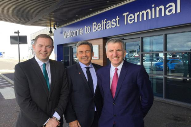 Ministers with Paul Grant, Route Director Stena Line