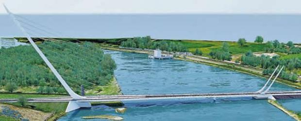 Artist's impression of Narrow Water bridge