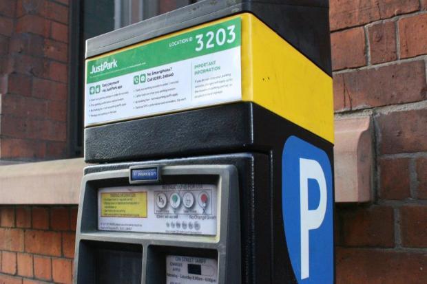 JustPark cashless machine