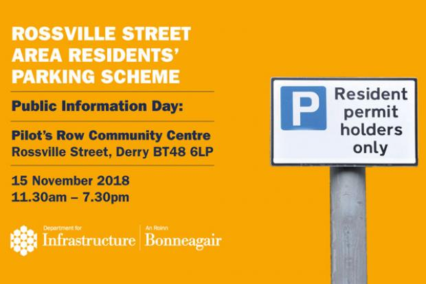 Rossville Residents Parking Consultation graphic