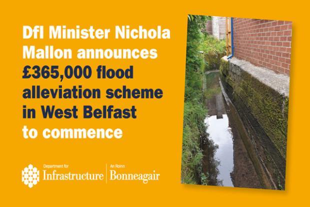 Graphic for West Belfast Flood Alleviation Scheme