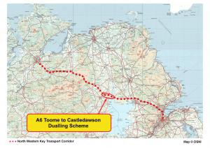 A6 Toome Castloedawson location on North West Transport Corridor