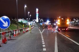 M1 Bus lane night works image