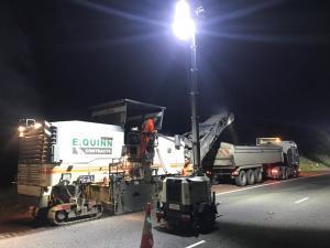 M1 Bus lane night works image 2