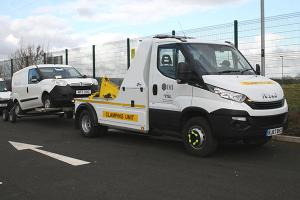 Vehicle removal and clamping